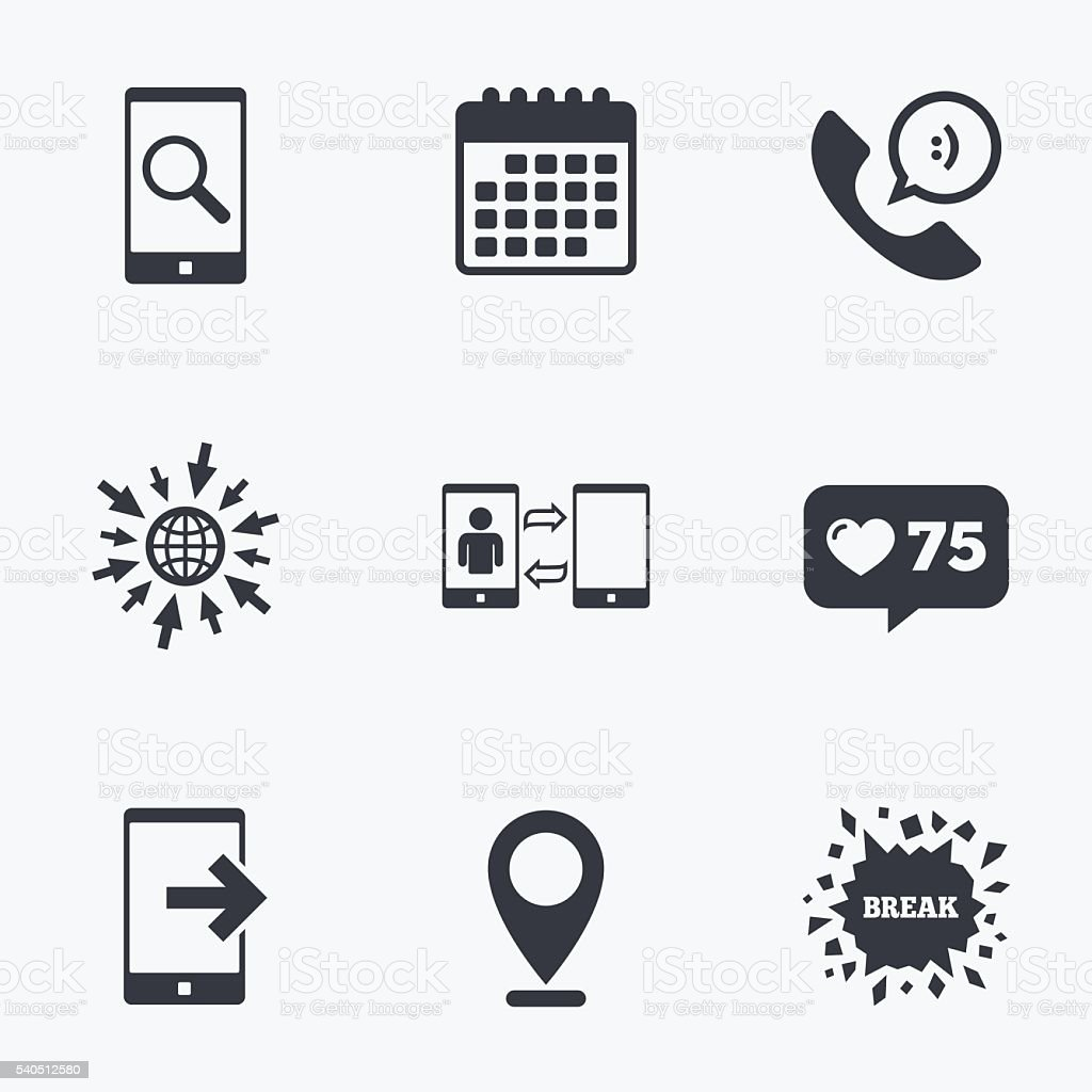 Phone Icons Call Center Support Symbol Stock Vector Art