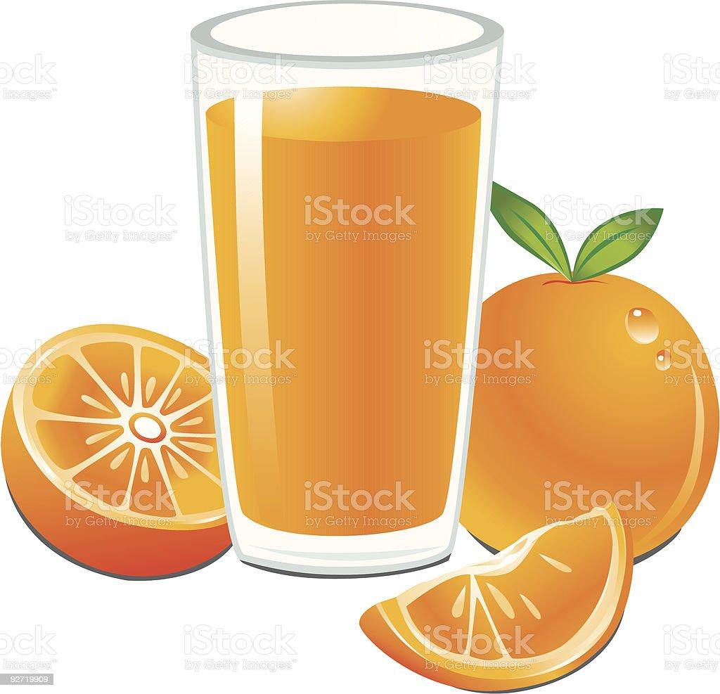 orange juice clip art vector