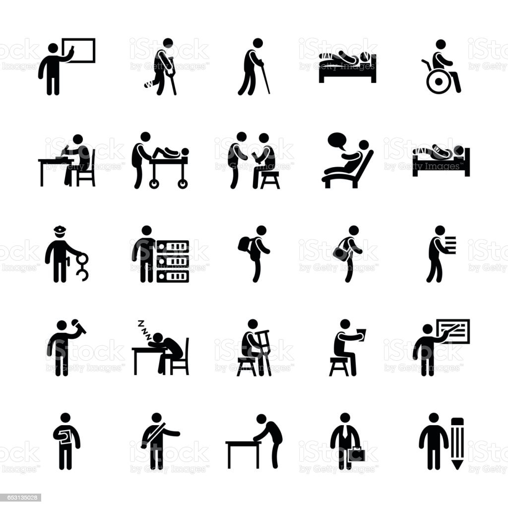 Pictogram Glyphs 39 Stock Vector Art & More Images of