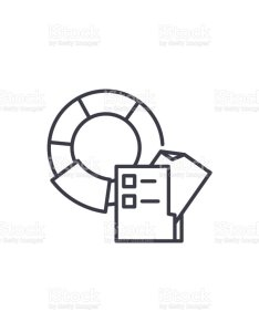 Pie chart   legend linear icon concept line vector sign symbol also charts rh istockphoto