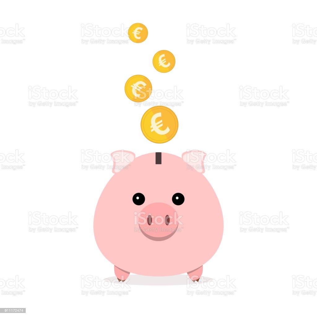 存錢罐 硬幣掉落向量插圖向量圖形及更多儲蓄圖片 - iStock