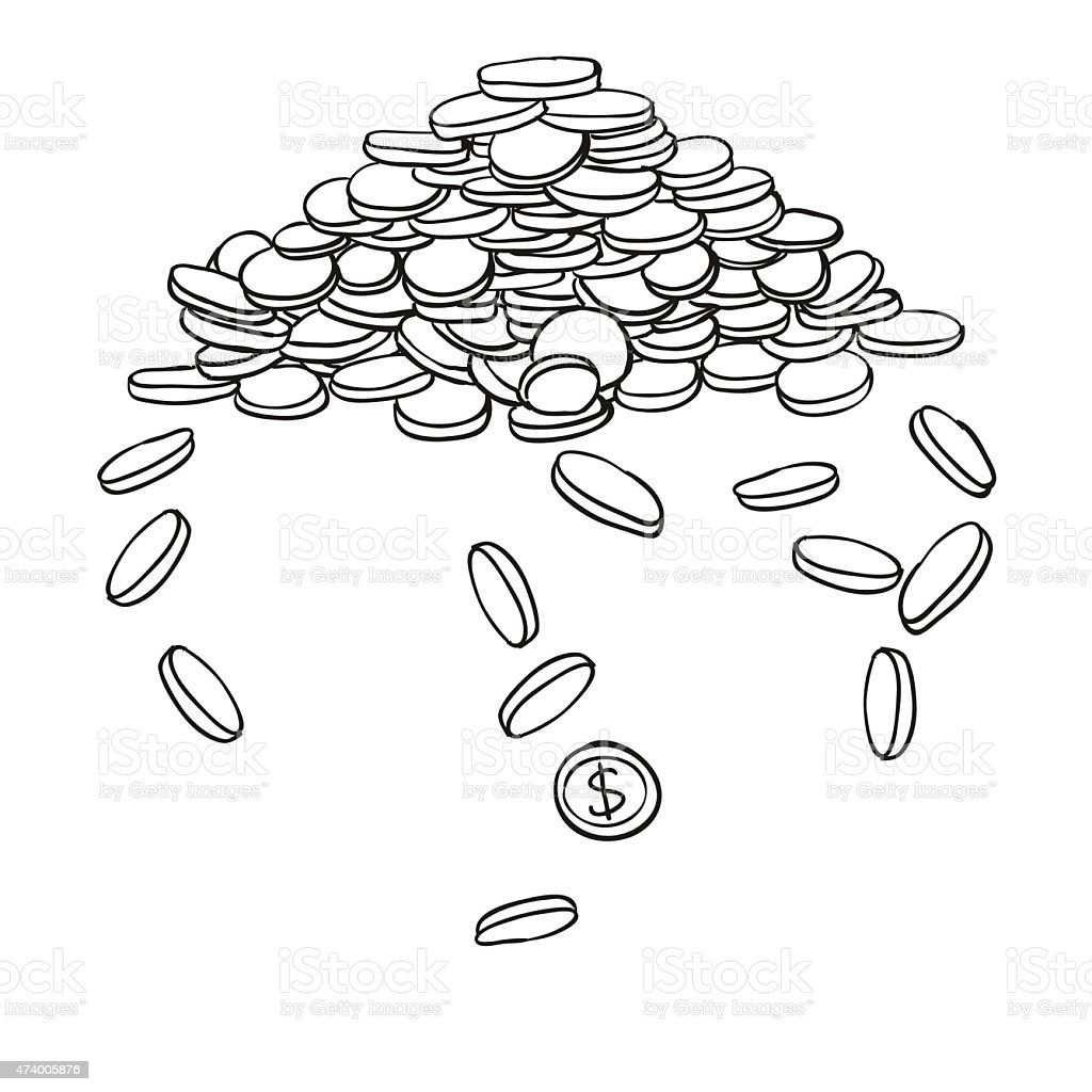 Pile Of Coins Stock Vector Art & More Images of 2015