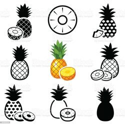 Pineapple Outline Free Vector Art 46 Free Downloads