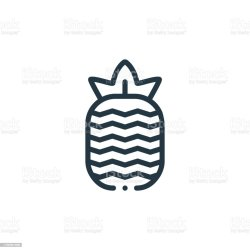 Pineapple Vector Icon Pineapple Editable Stroke Pineapple Linear Symbol For Use On Web And Mobile Apps Logo Print Media Thin Line Illustration Vector Isolated Outline Drawing Stock Illustration Download Image Now