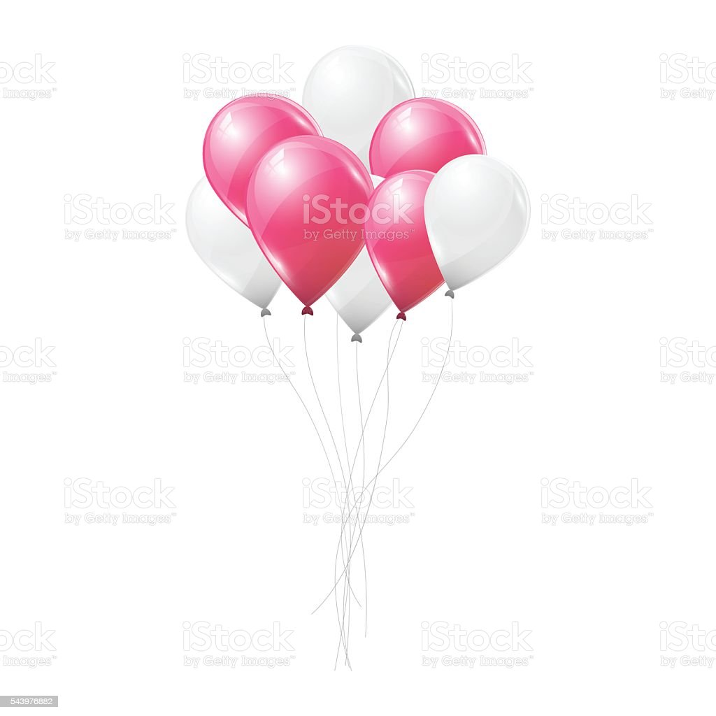 royalty free pink balloon clip