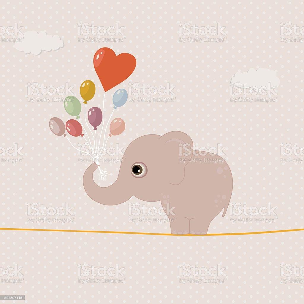 royalty free elephant balloon clip