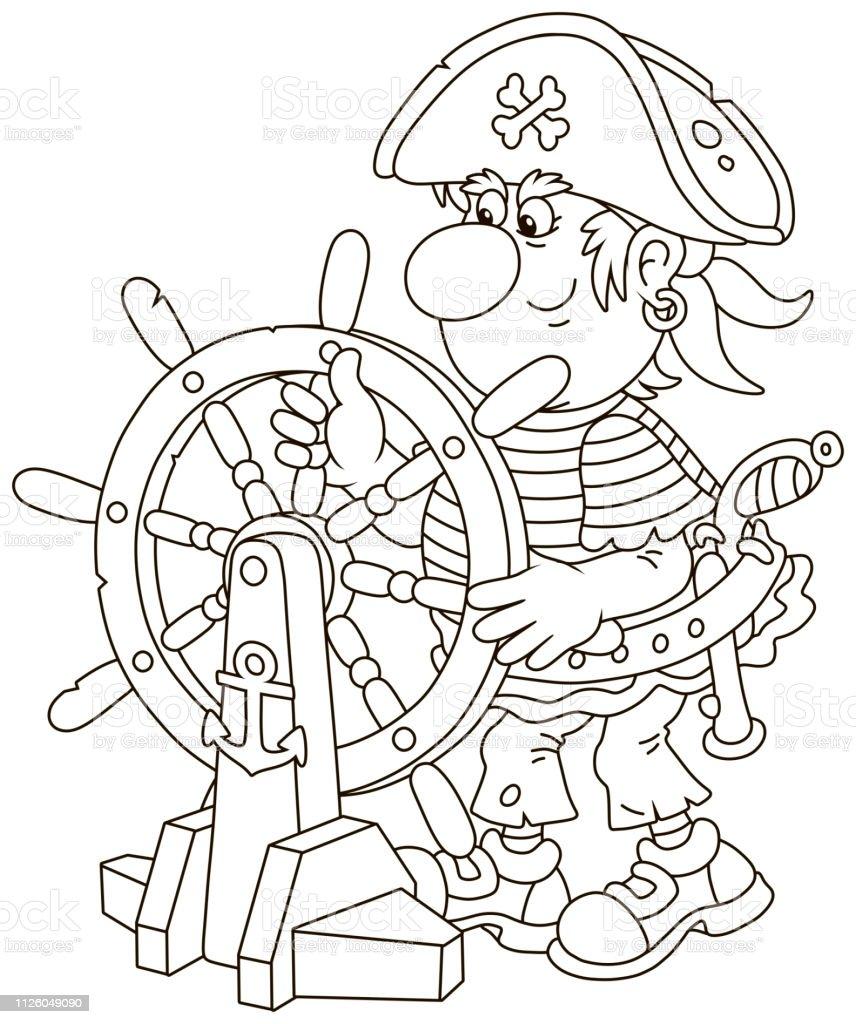 Piratenschiff Zum Ausmalen - Malvorlagen