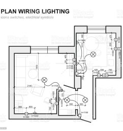 plan wiring lighting electrical schematic interior set of standard icons switches electrical symbols [ 1024 x 1024 Pixel ]
