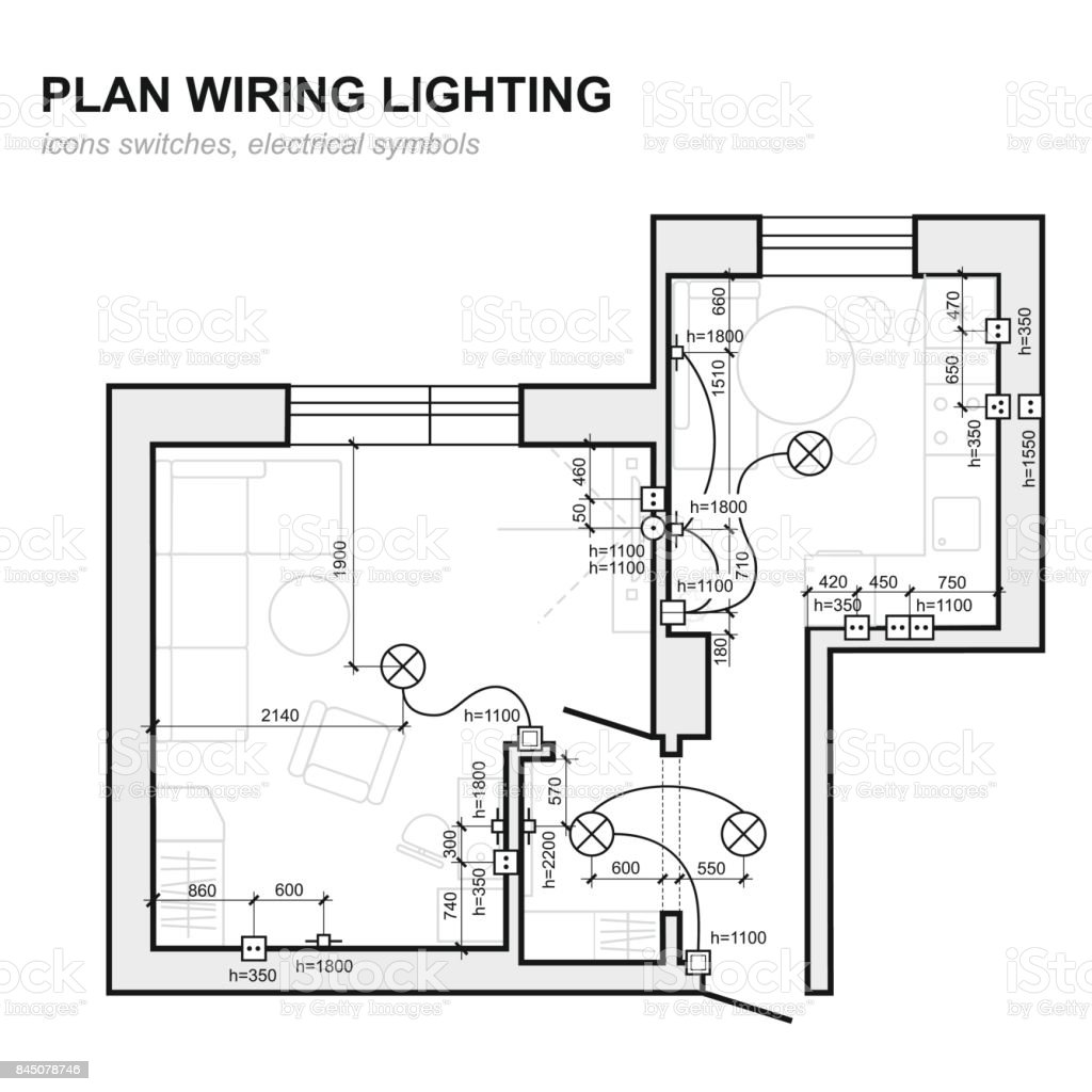 hight resolution of plan wiring lighting electrical schematic interior set of standard icons switches electrical symbols