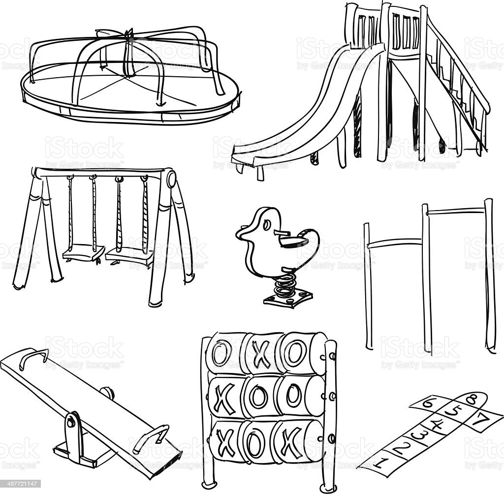Royalty Free Playground Equipment Clip Art Vector Images