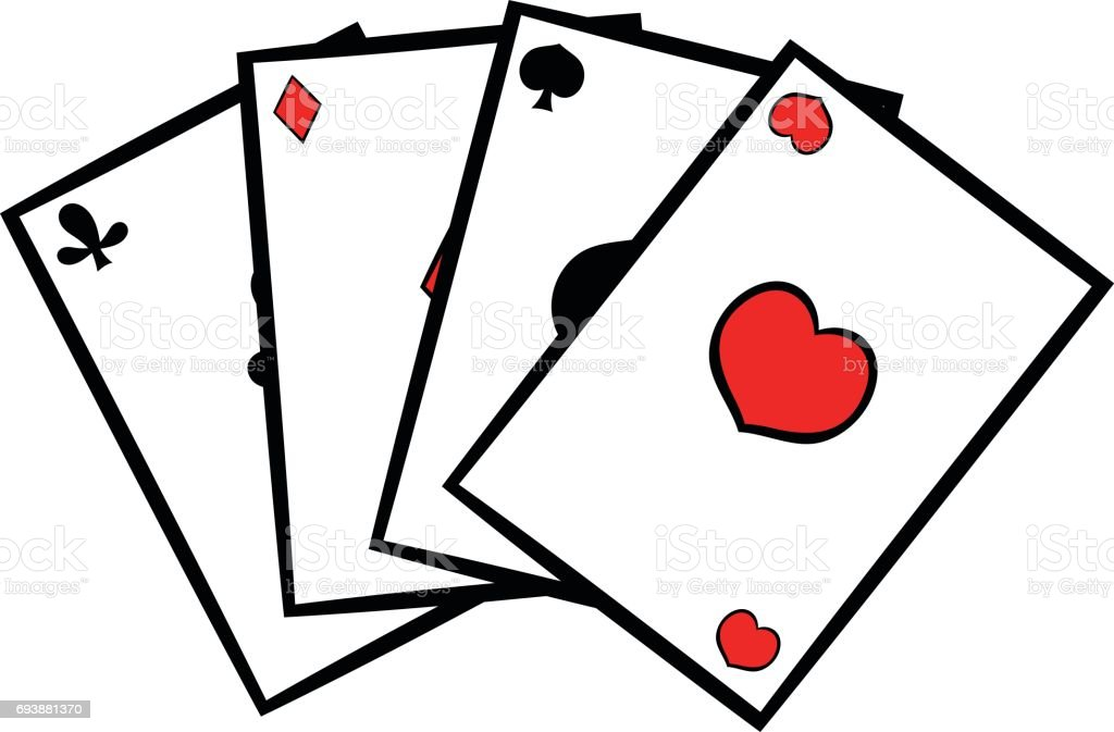 Playing Cards Icon Icon Cartoon Stock Illustration