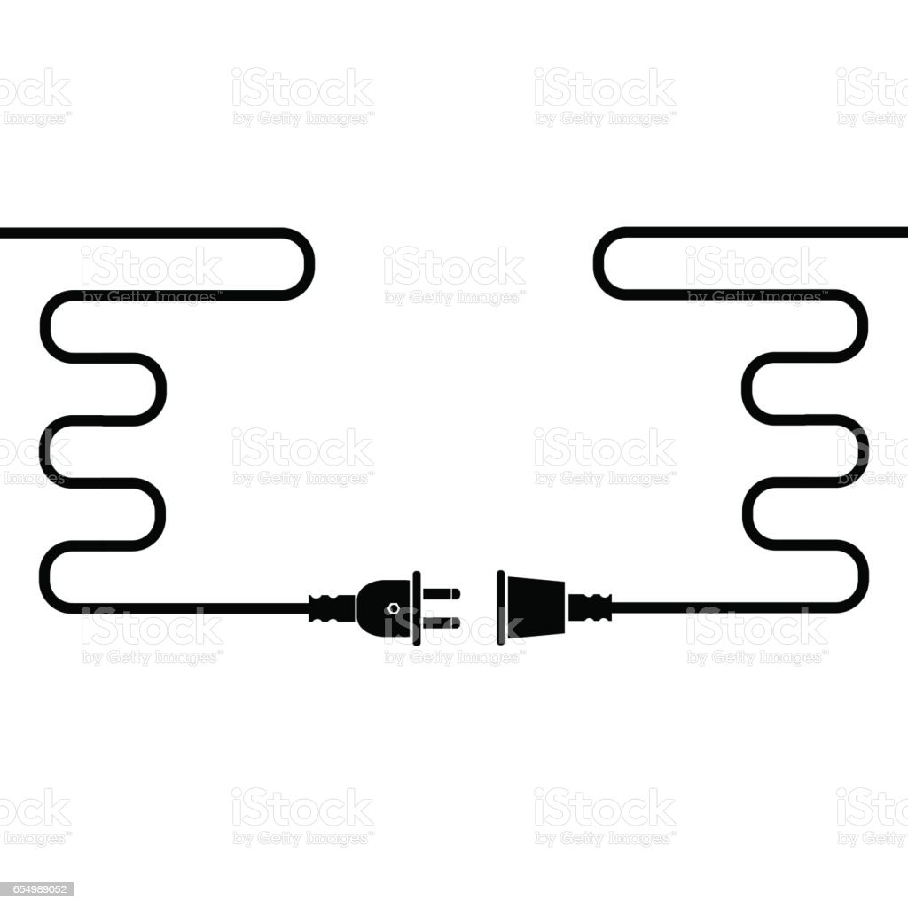 Plug And Socket Stock Vector Art & More Images of Amperage