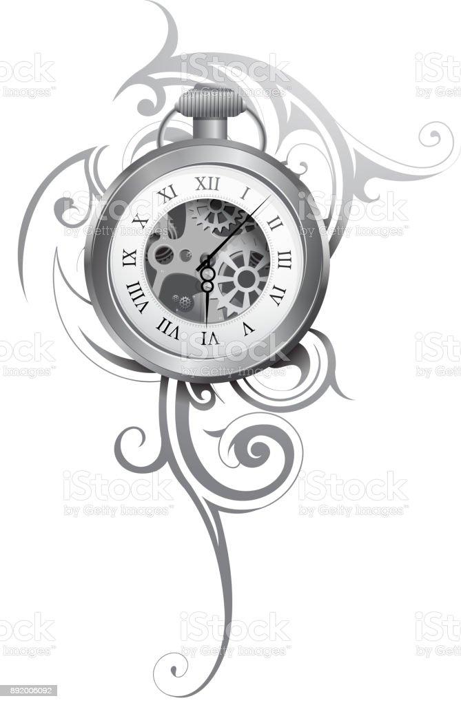 Tatuajes Reloj De Bolsillo Vectores Libres De Derechos Istock