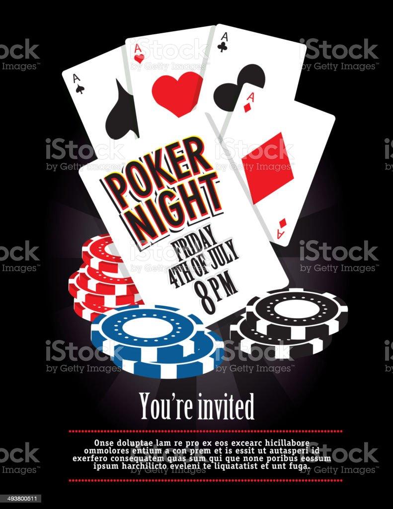 Poker Night Card Party Casino Game Night Invitation Design Template Stock Vector Art Amp More
