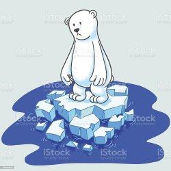 polar bear iceberg sad ice clip vector illustrations cartoons formation arctic similar graphics