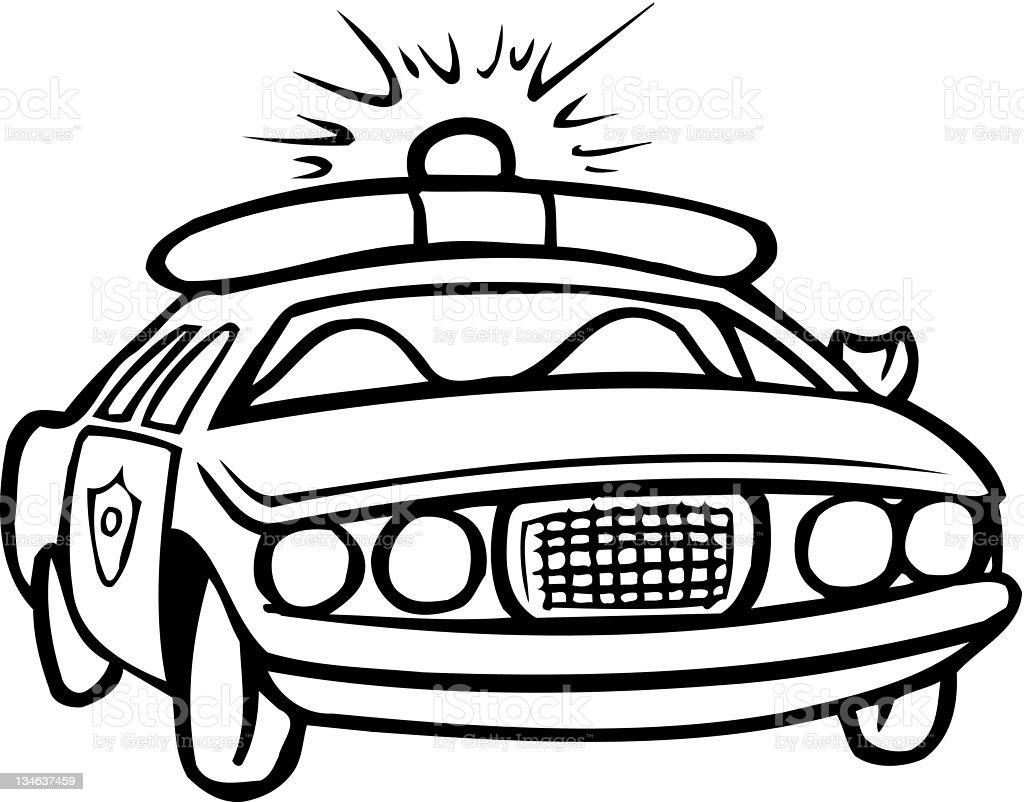 Police Car Outline Stock Vector Art & More Images of Art