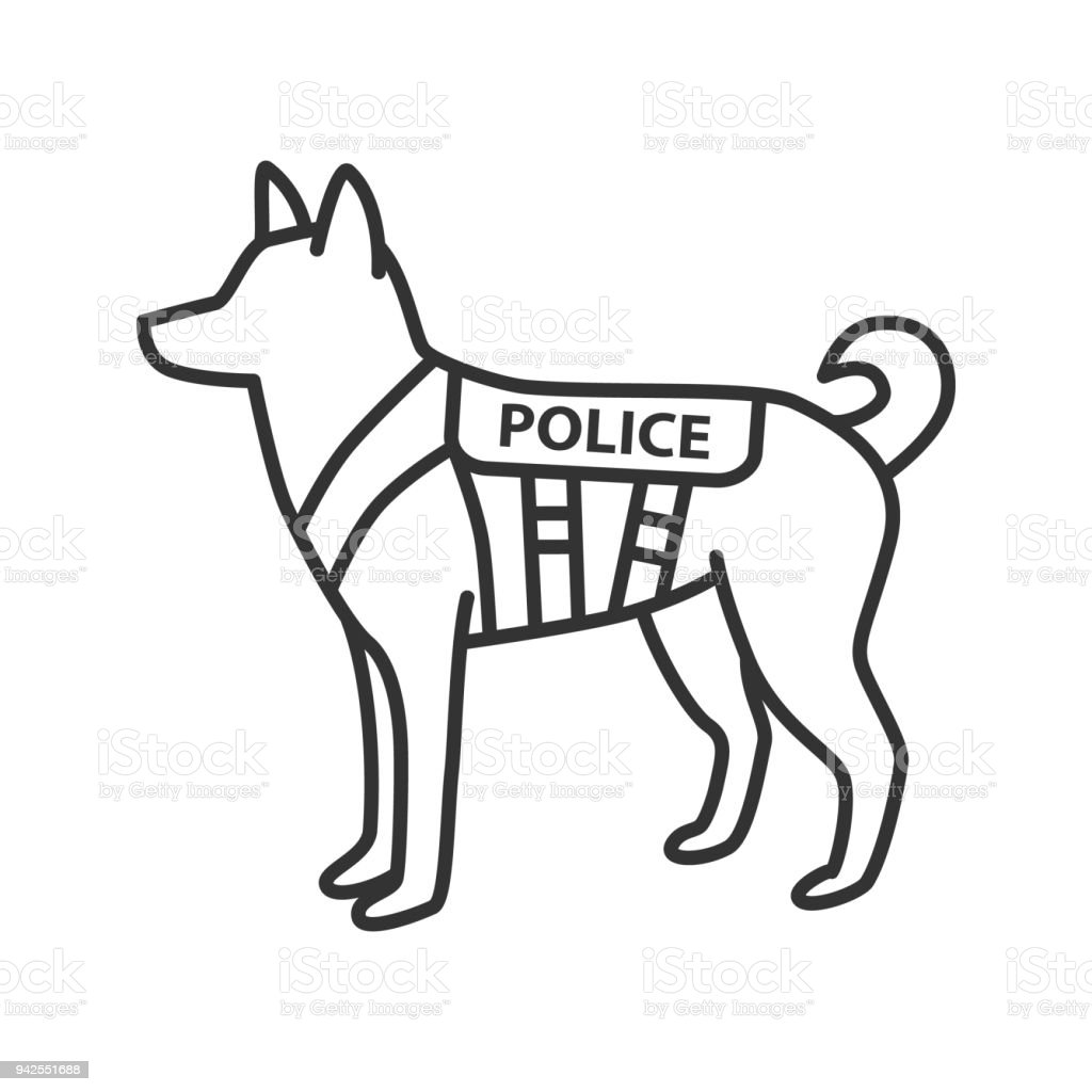 K9 Police Dog Icon Stock Vector Art & More Images of Art