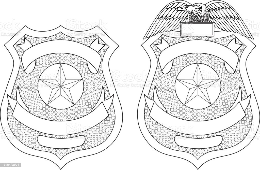 Police Law Enforcement Badge Or Shield Stock Vector Art