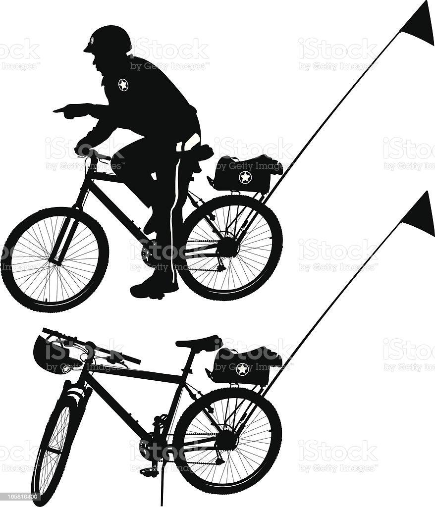 Police Officer On Bike Stock Vector Art & More Images of