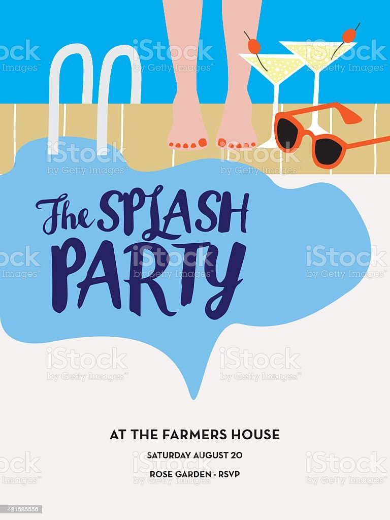Pool Party Invitation Royalty-Free Pool Party Invitation Stock Vector Art  & More Images