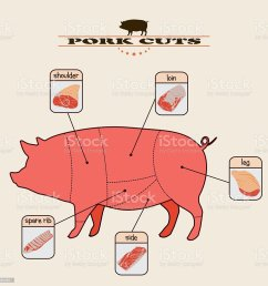 pork cuts royalty free pork cuts stock vector art amp  [ 1024 x 1024 Pixel ]