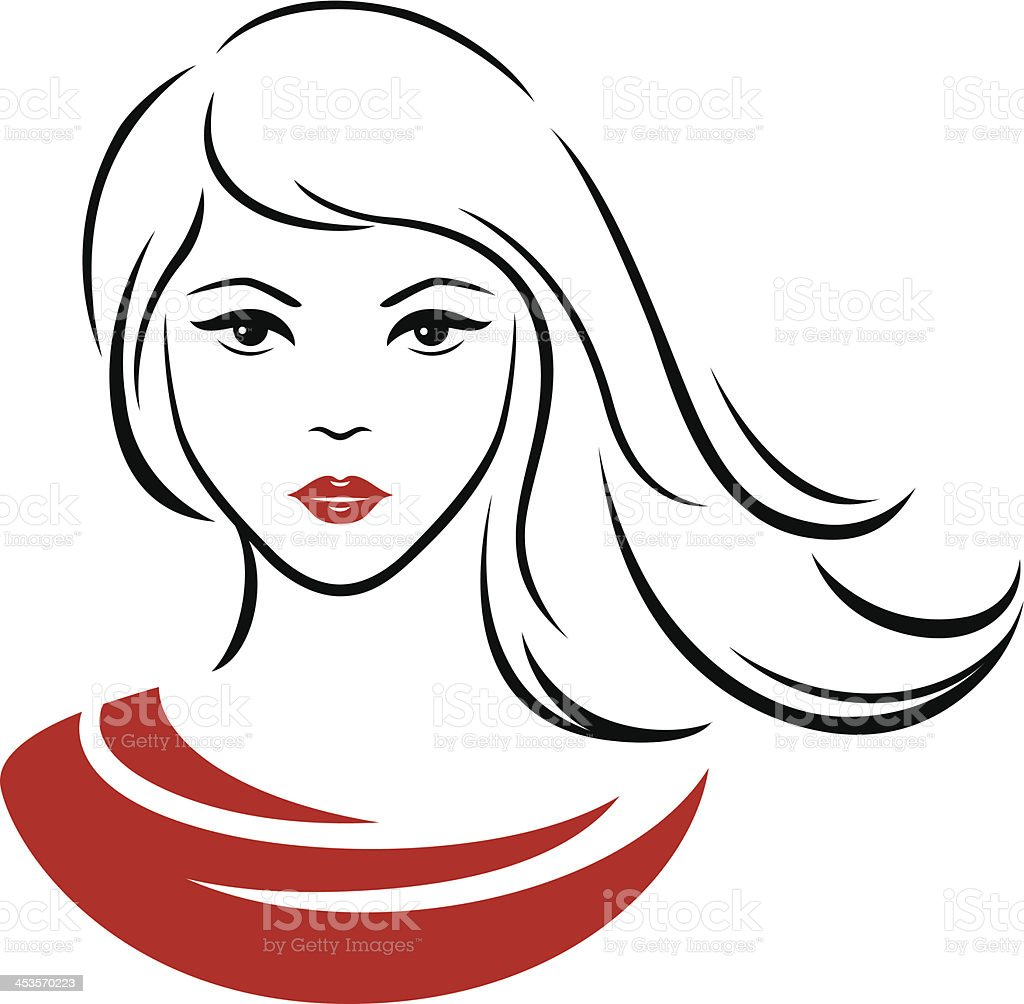 straight hair illustrations