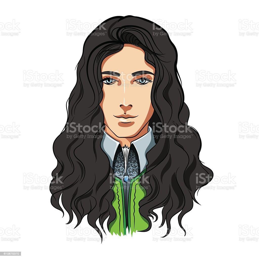 top boy long hair clip art vector