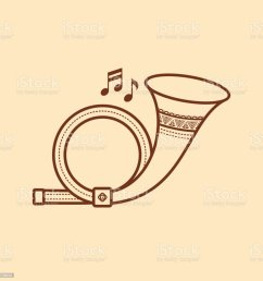 post horn musical instrument baby toy royalty free post horn musical instrument [ 1024 x 1024 Pixel ]
