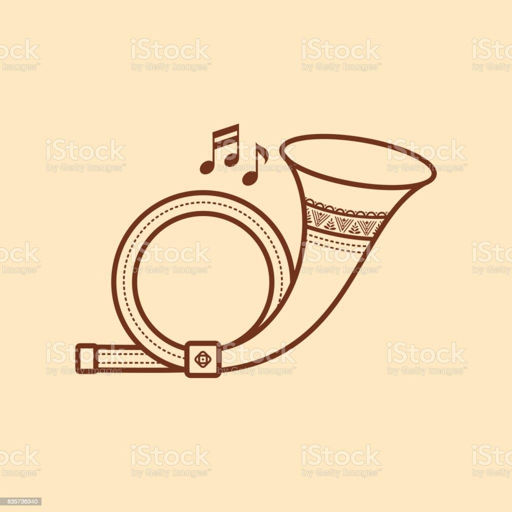 hight resolution of post horn musical instrument baby toy royalty free post horn musical instrument