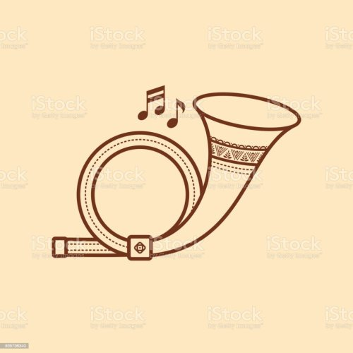 small resolution of post horn musical instrument baby toy royalty free post horn musical instrument