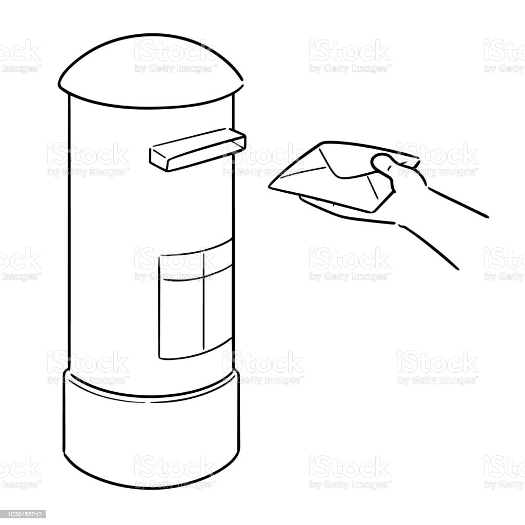 Postbox Stock Vector Art & More Images of Cartoon