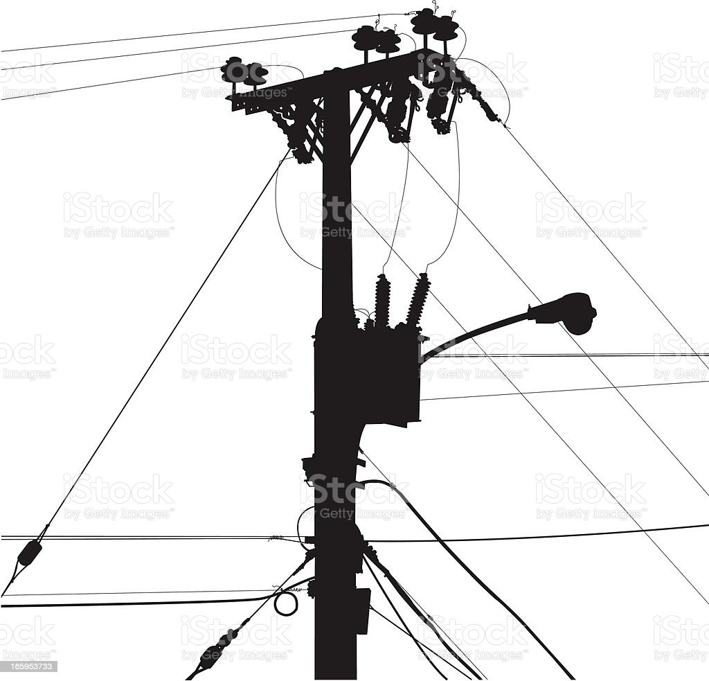 Power Lines Stock Vector Art & More Images of Accidents
