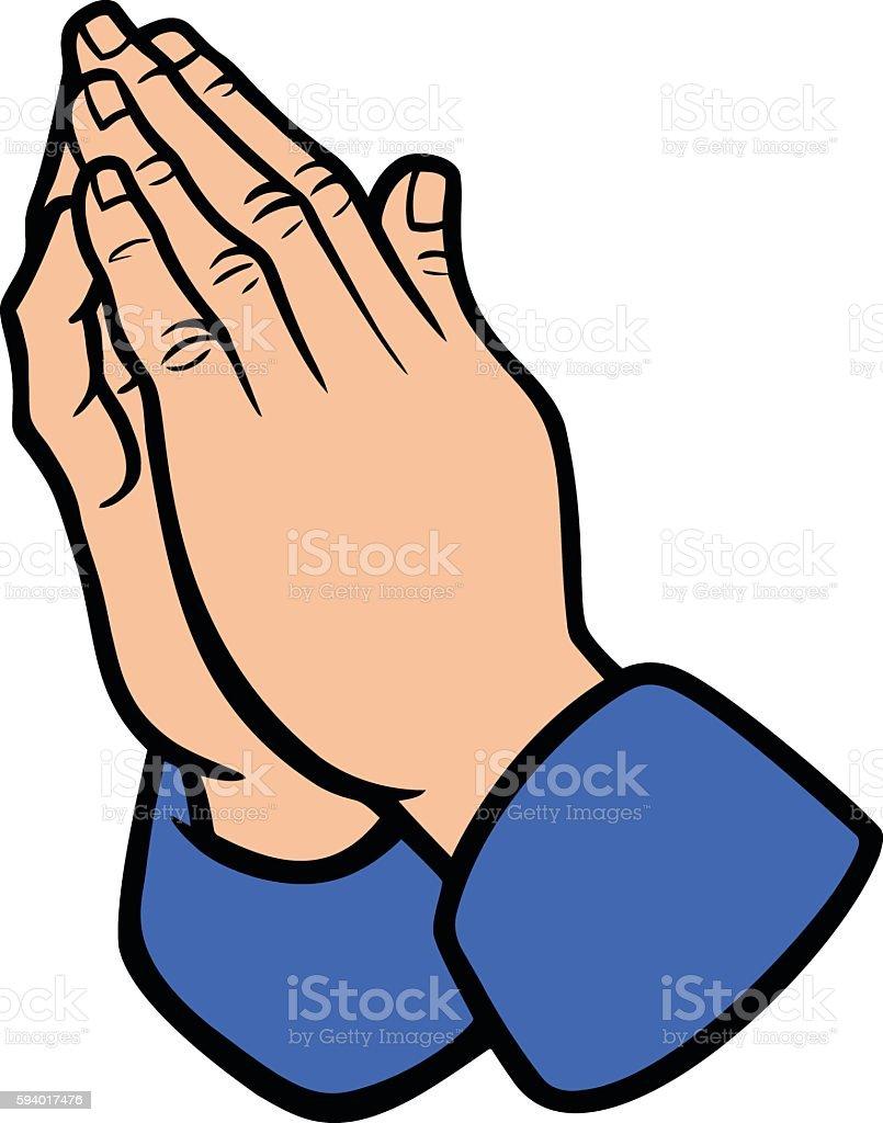 royalty free praying hands clip