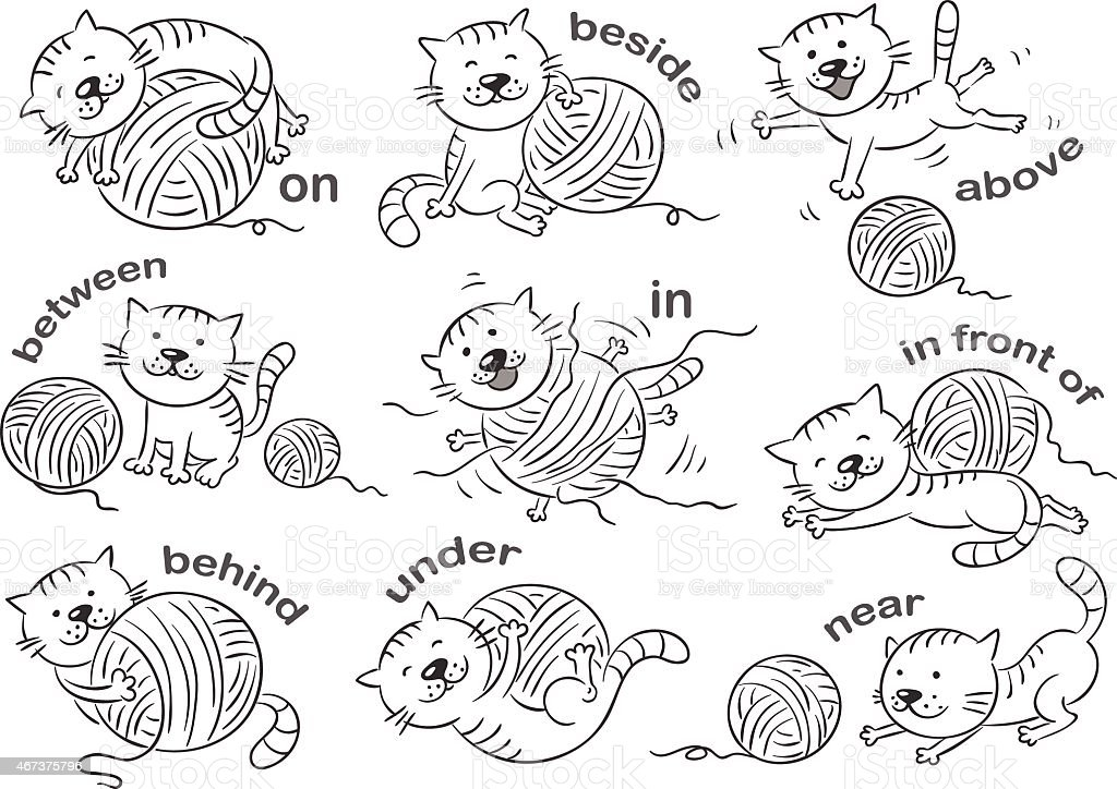 Prepositions Of Place Stock Vector Art & More Images of