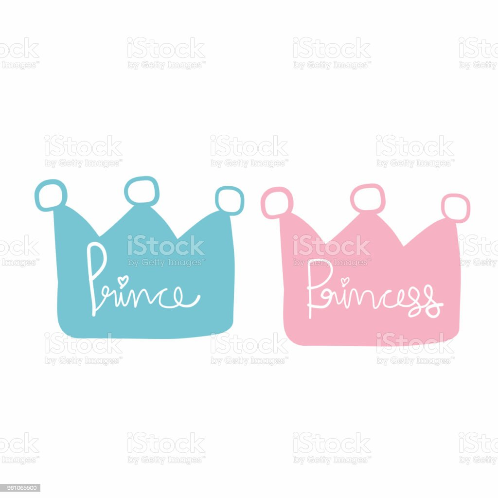 prince and princess crown