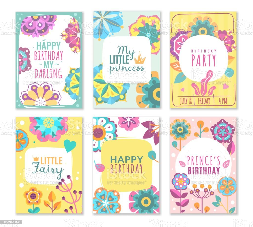 princess cards vintage cute pink frame with gold crown girl birthday invitation card mirrors borders baby greetings vector template stock illustration download image now istock