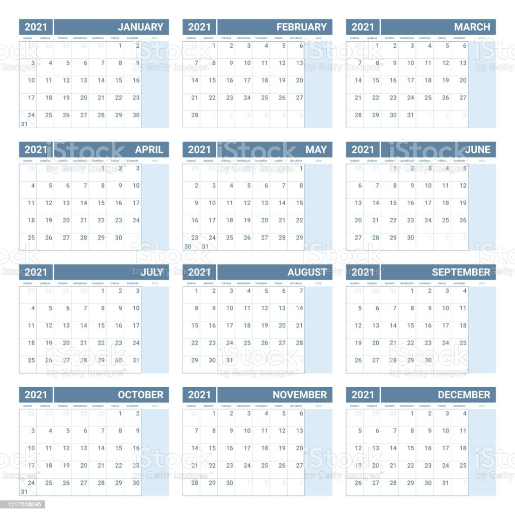 Download the classic design 2021 printable monthly planner with holidays on a large grid of microsoft word documents. Printable 2021 Yearly Calendar Template In Simple Design ...