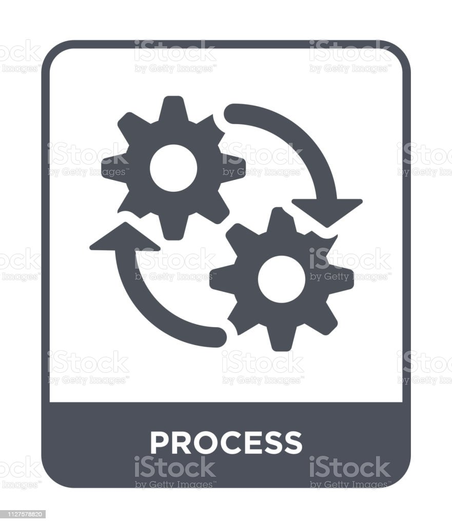process icon vector on