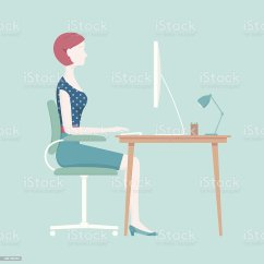 Proper Posture Desk Chair Baby Seat In Car Sitting Stock Vector Art And More Images Of