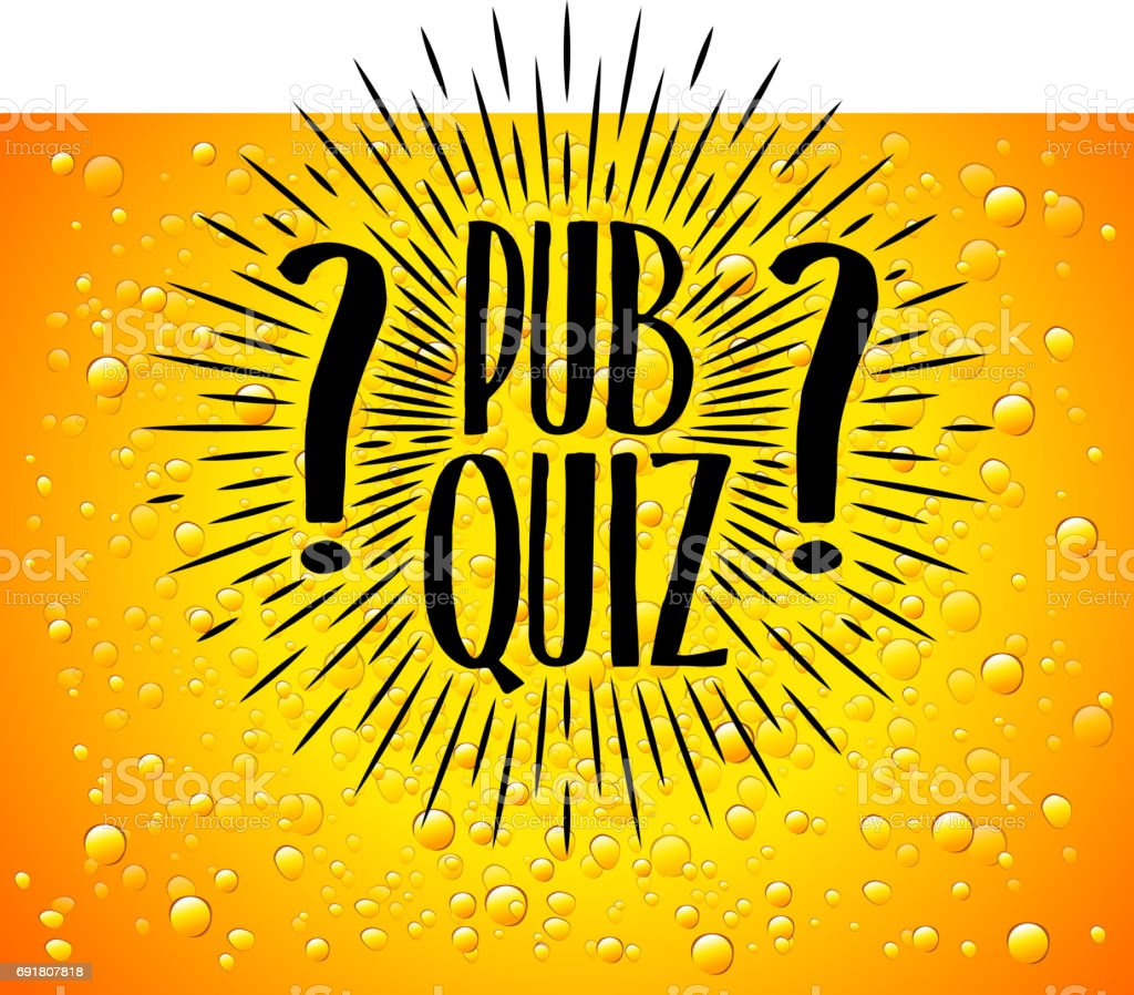 Pub Quiz Beer Background Quiz Night Announcement Poster Design Web Banner Background Vector Illustration Modern Pub Team Game Questions Game Stock ...