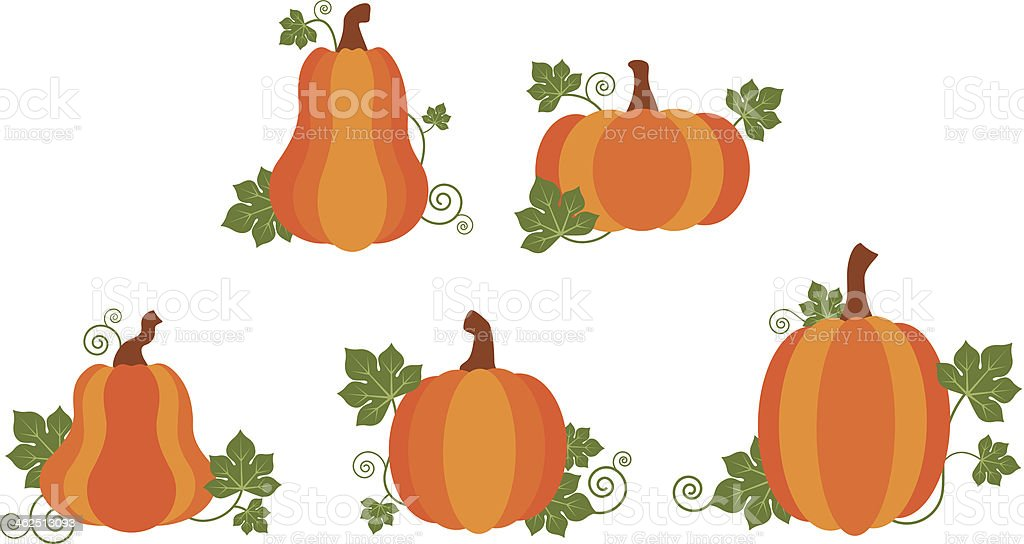 royalty free pumpkin patch clip