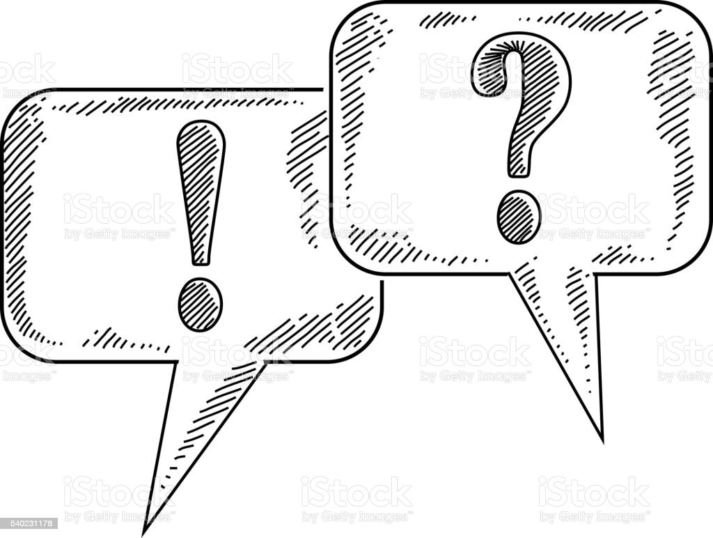 Question And Answer Symbols Drawing Stock Vector Art