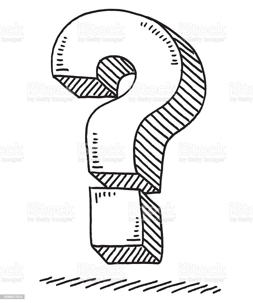 Question Mark Drawing Stock Vector Art & More Images of