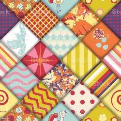 quilt block vector pattern seamless