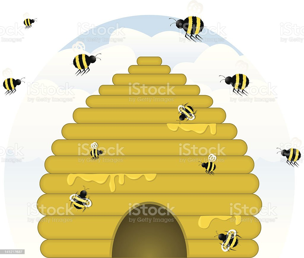 royalty free bee skep clip art