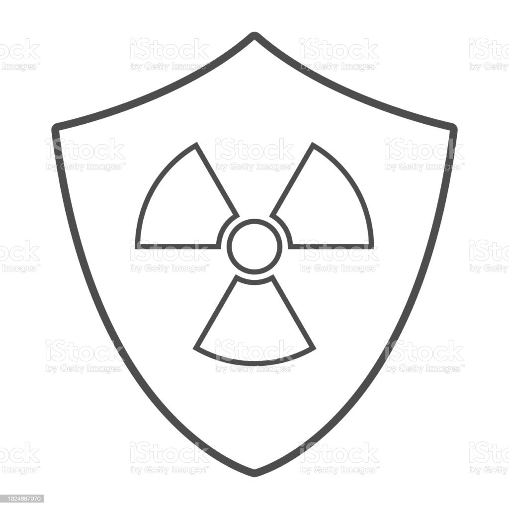Radiation Protection Sign Shield And Radiation Symbol