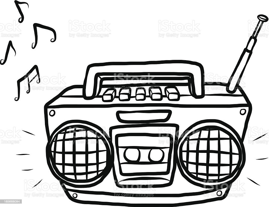 Radio And Cassette Player Stock Vector Art & More Images