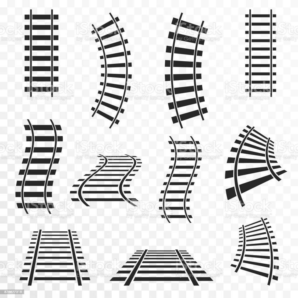 Royalty Free Railroad Track Clip Art Vector Images