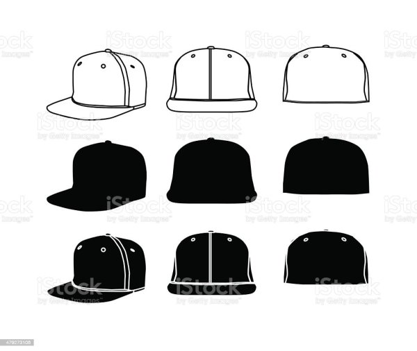 Rap Cap Silhoette Set Stock Vector Art & Of