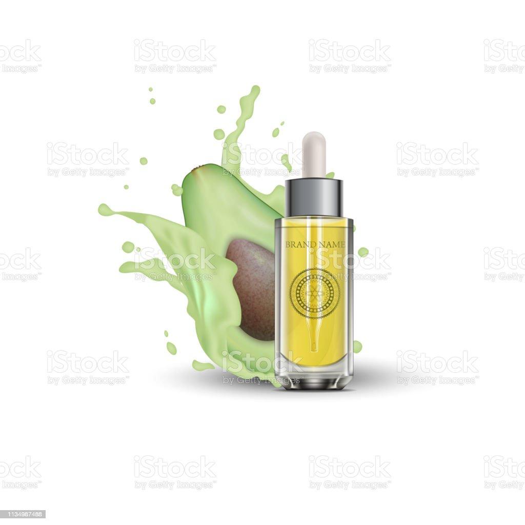 https www istockphoto com fr vectoriel bouteille de cosm c3 a9tique de lhuile essentielle 3d r c3 a9aliste maquette bouteille gm1134987488 301782266
